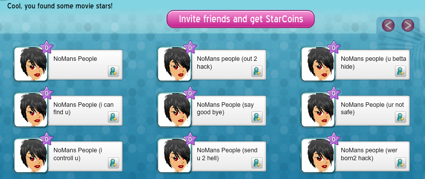 theres a new group of hackers i was in the level 5 mall when a girl