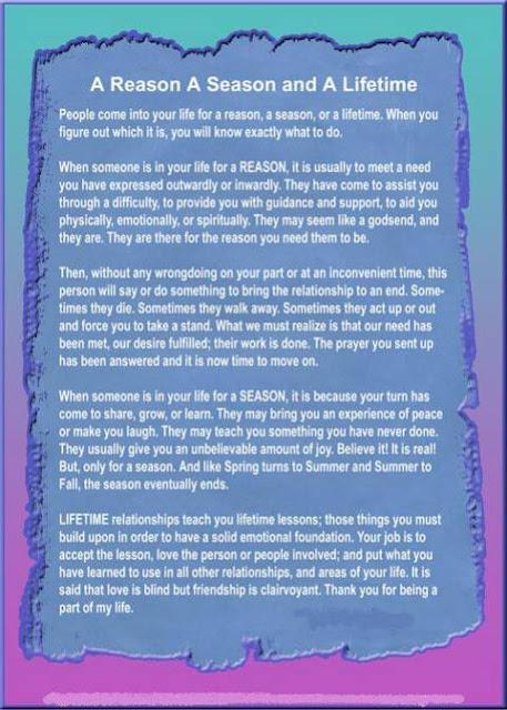 seasons of friendship essay