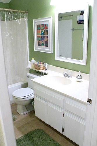 How To Repaint Bathroom Cabinets White clever nest: diy: repainting bathroom cabinets- quick and easy!