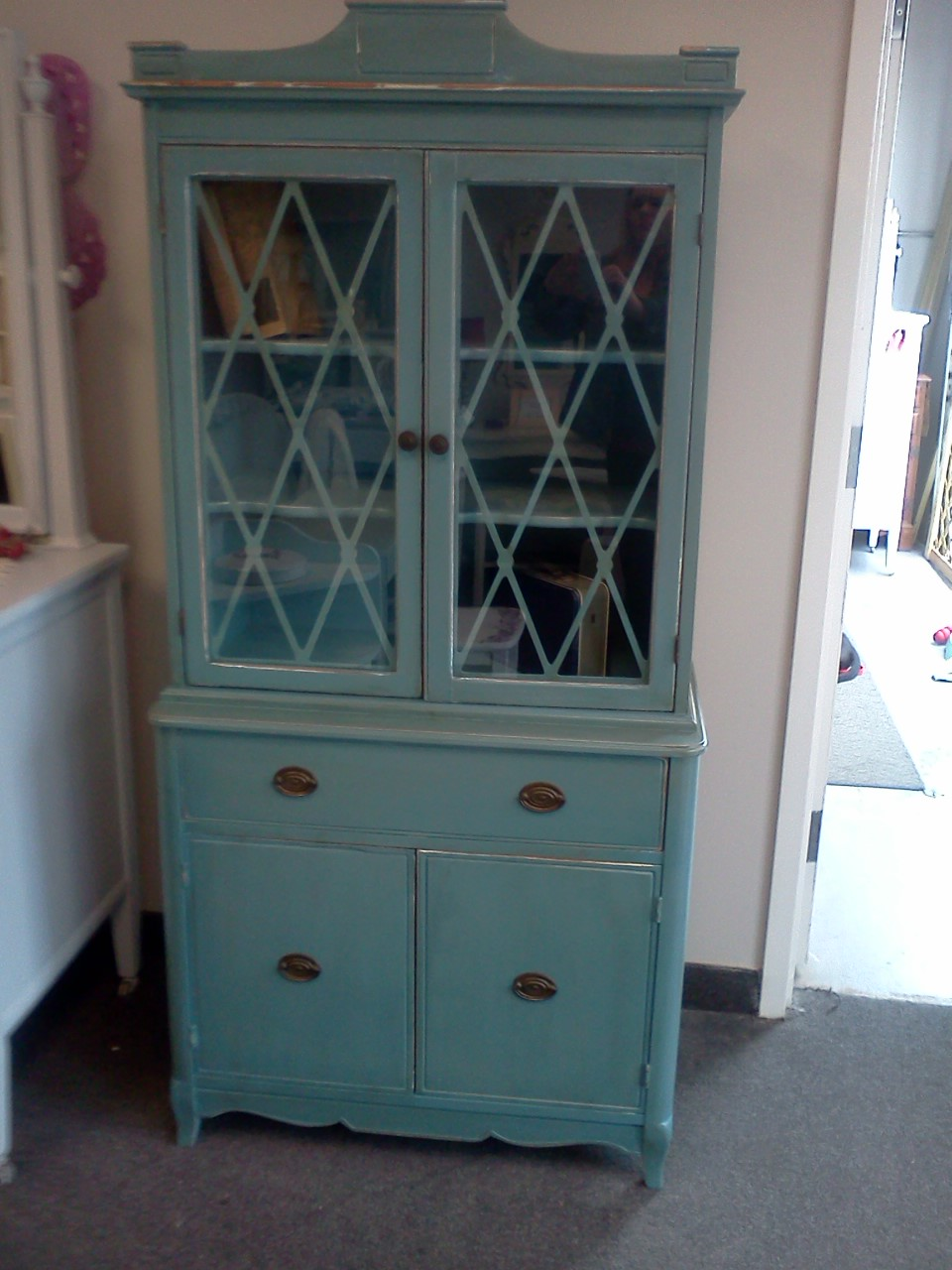 Handpainted furniture blog shabby chic vintage painted for Chinese kitchen cabinets nj