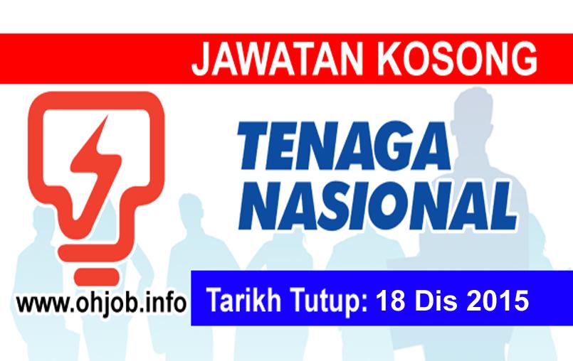 Jawatan Kerja Kosong Tenaga Nasional Berhad (TNB) logo www.ohjob.info disember 2015
