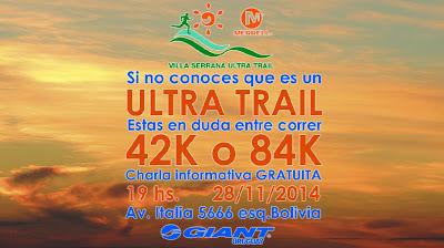 Charla gratuita del Ultra Trail Villa Serrana (Giant, 28/nov/2014)