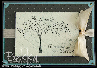 Hopeful Thoughts Sympathy Card by Stampin' Up! Demonstrator Bekka Prideaux. www.feeling-crafty.co.uk