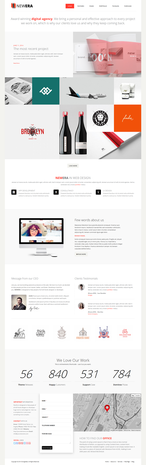 Free responsive wp template
