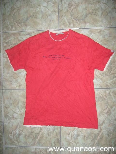Áo thun 2 lớp hiệu CLRIDE màu đỏ giá rẻ 50k