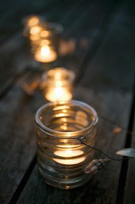 decorazioni candele per tavola