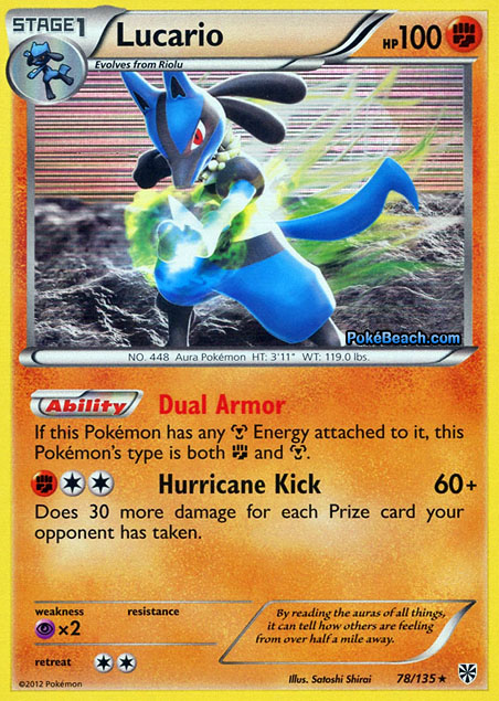 Lucario #78/135 -- Plasma Storm Pokemon Card Review ...