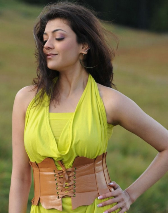 Spicy Kajal Agarwal In Hot Mood Yellow Dress Latest Stills Photos glamour images