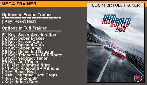 need for speed trainer