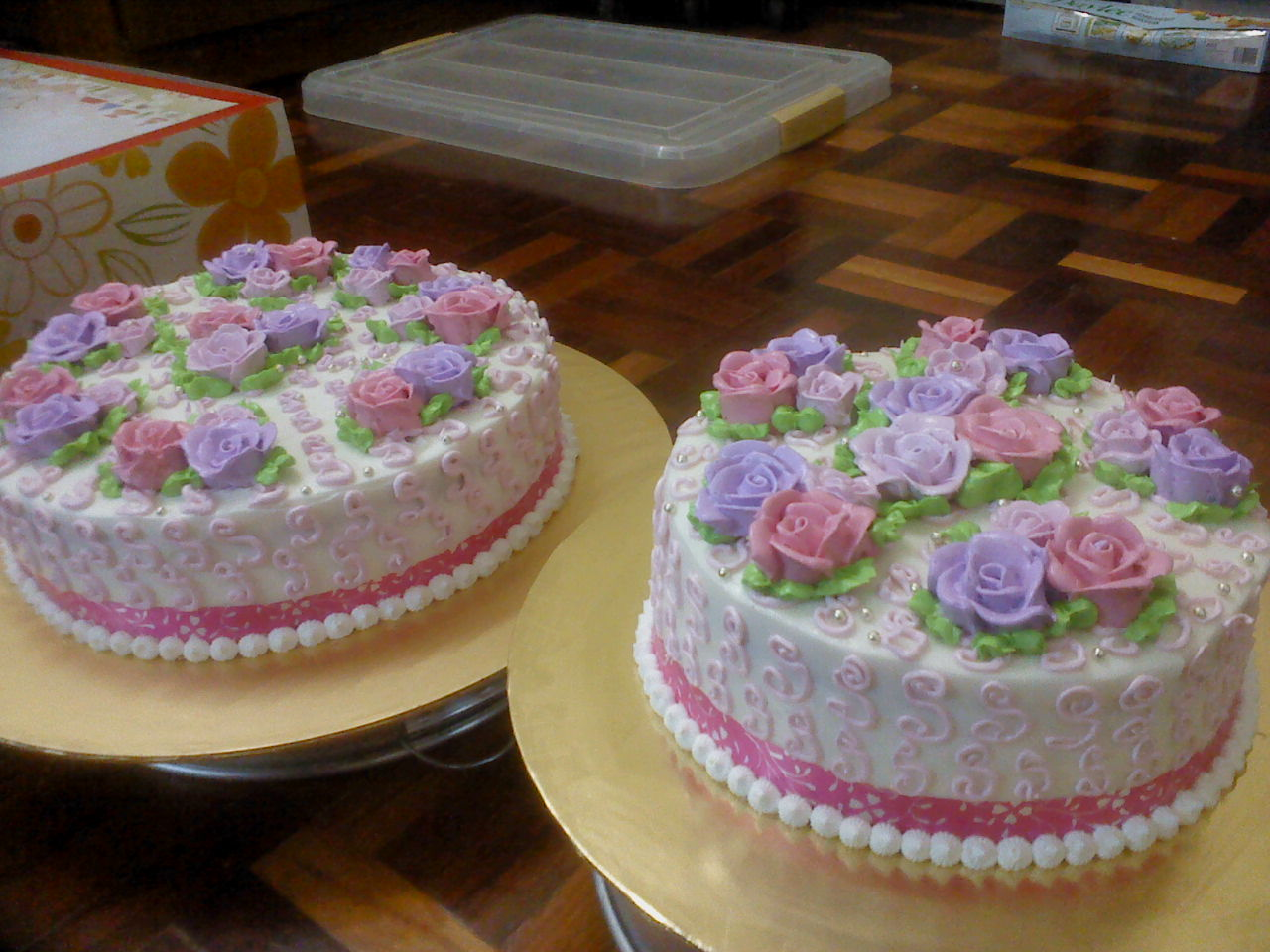 Balqisyia s Choc Shop 2 TIER WEDDING CAKE PINK PURPLE