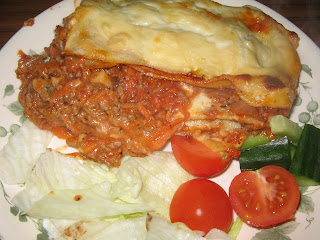 Homemade Lasagne ready to eat