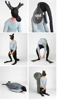 weird guy dressing up like animals