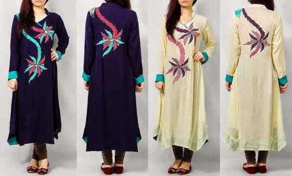 Pakistan ladies 2015 in kurta style New Ladies