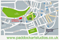 Map of the Paddock Art Studios in Lewes, East Sussex