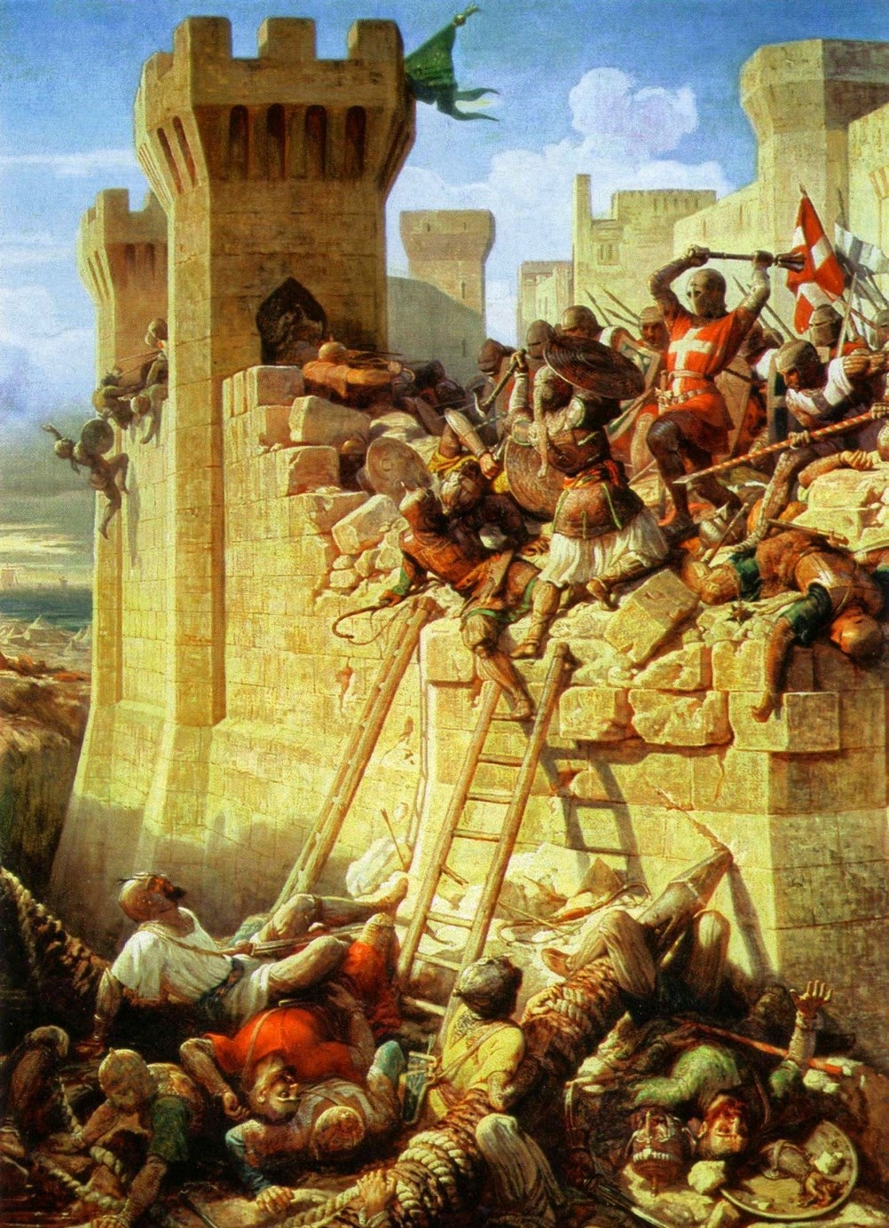 third crusade The third crusade opens it was the destruction of the crusader army by saladin  at hattin in 1187 that had led to the collapse of the crusader kingdoms in the.