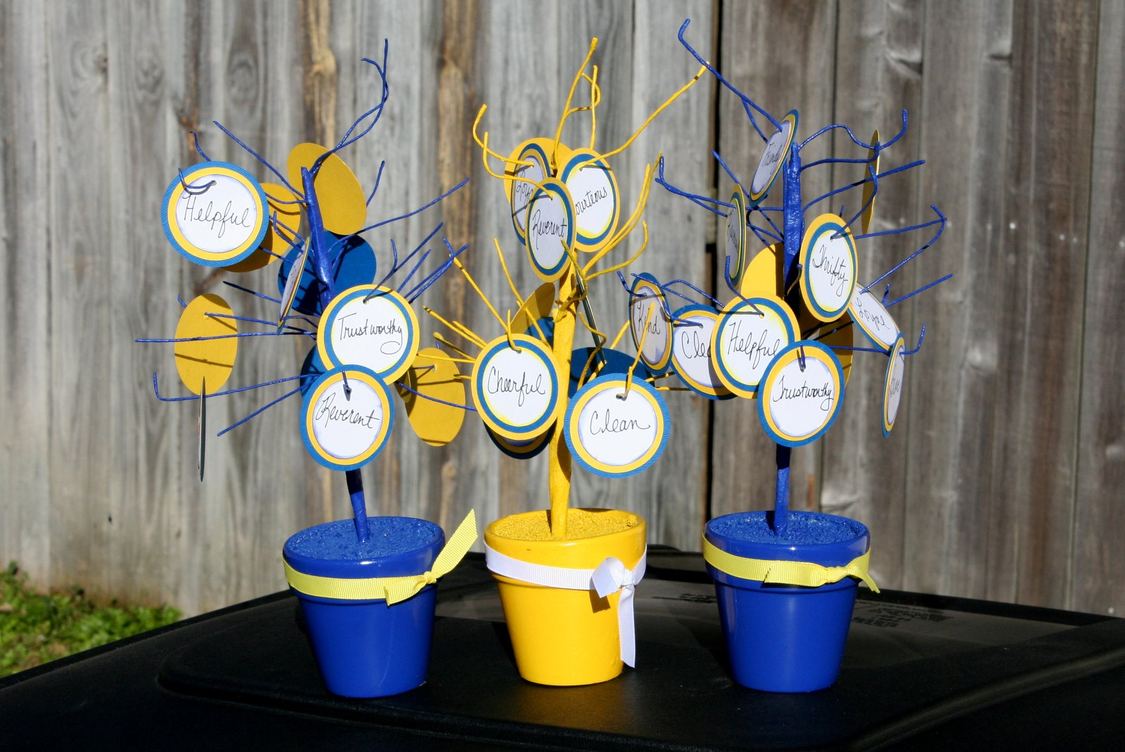 Rachel brister cub scout blue and gold banquet centerpieces
