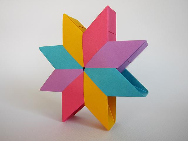 Estrella noria de aldo marcell el arte del origami - Origami de una estrella ...