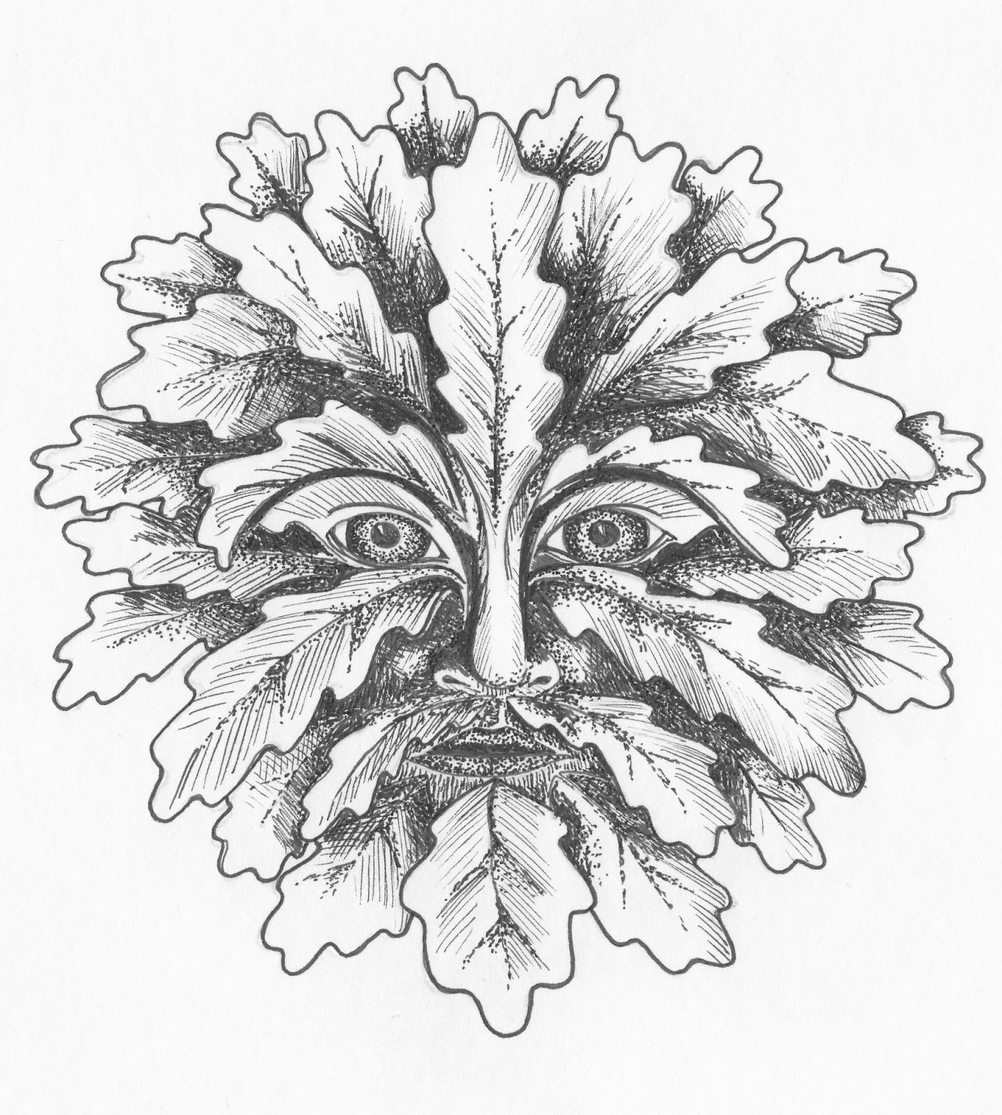 green man coloring pages - photo#32