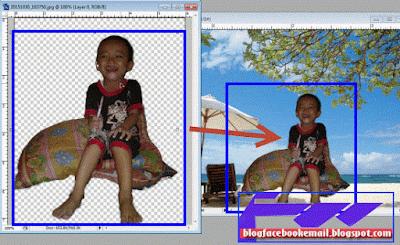 cara memindahkan foto ke foto lain