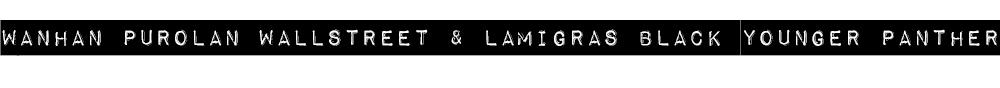 WANHAN PUROLAN WALLSTREET / LAMIGRAS BLACK YOUNGER PANTHER
