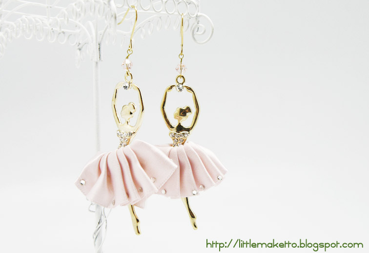 Pink Tutu Ballerina Earrings