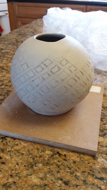 Poor Tribute to Eric Stearns, preparation for a pierced vase / vessel.