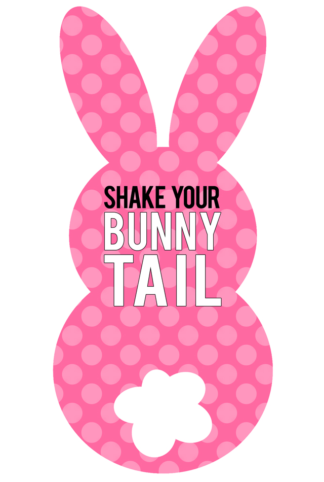 picture relating to Bunny Printable known as Printable Easter Bunny Tail Tags - My Sisters Suitcase