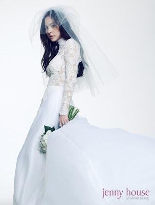 Min Hyo Rin Beautiful Bride J Style Magazine 2011