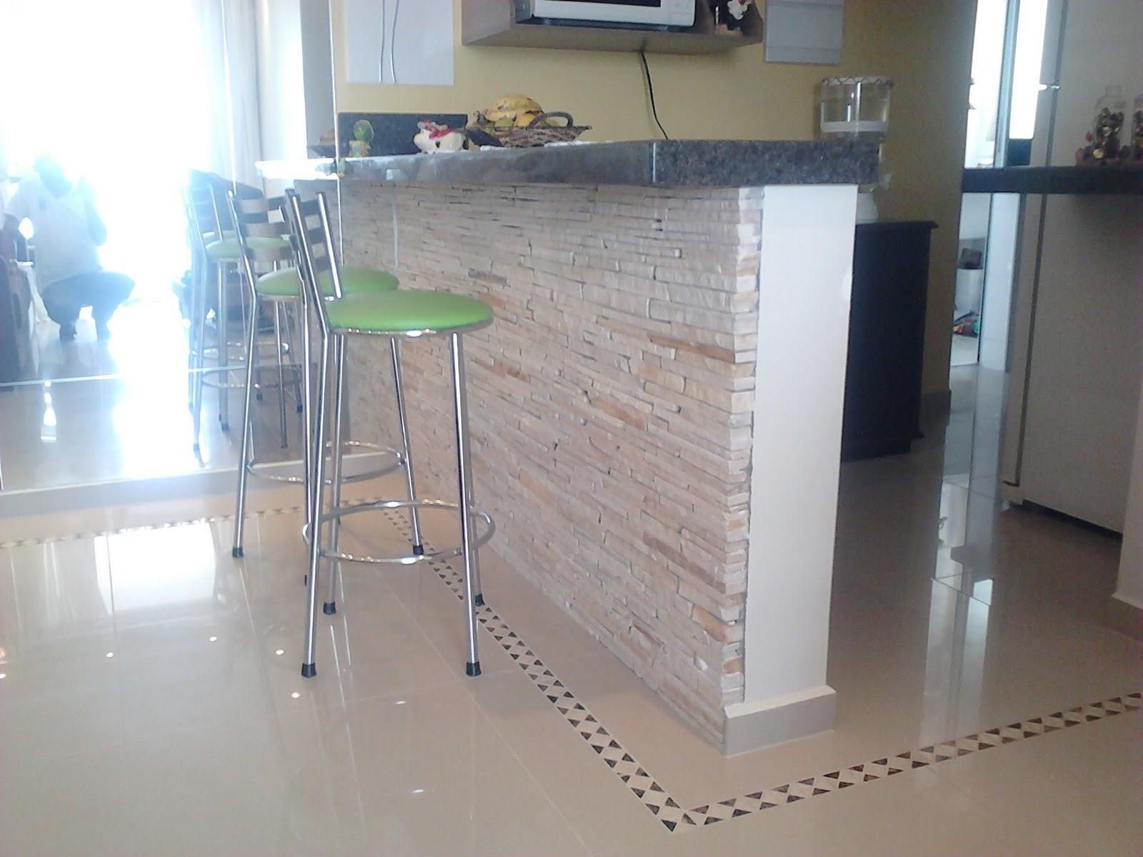 Projeto Cozinha Americana Casa & Conforto #456A86 1600 1200
