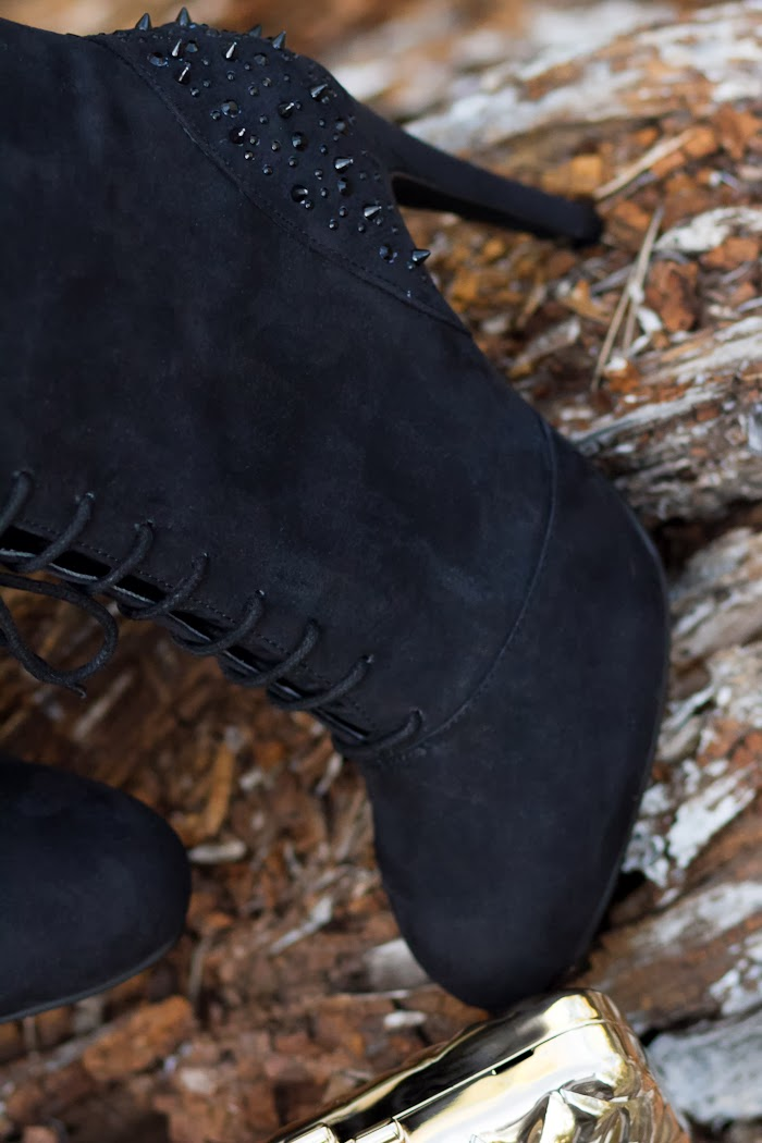 Spikes on the lace up booties
