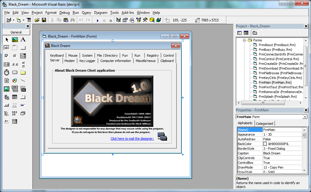 BlackDream Trojan VB6 Source code - Code Hacker