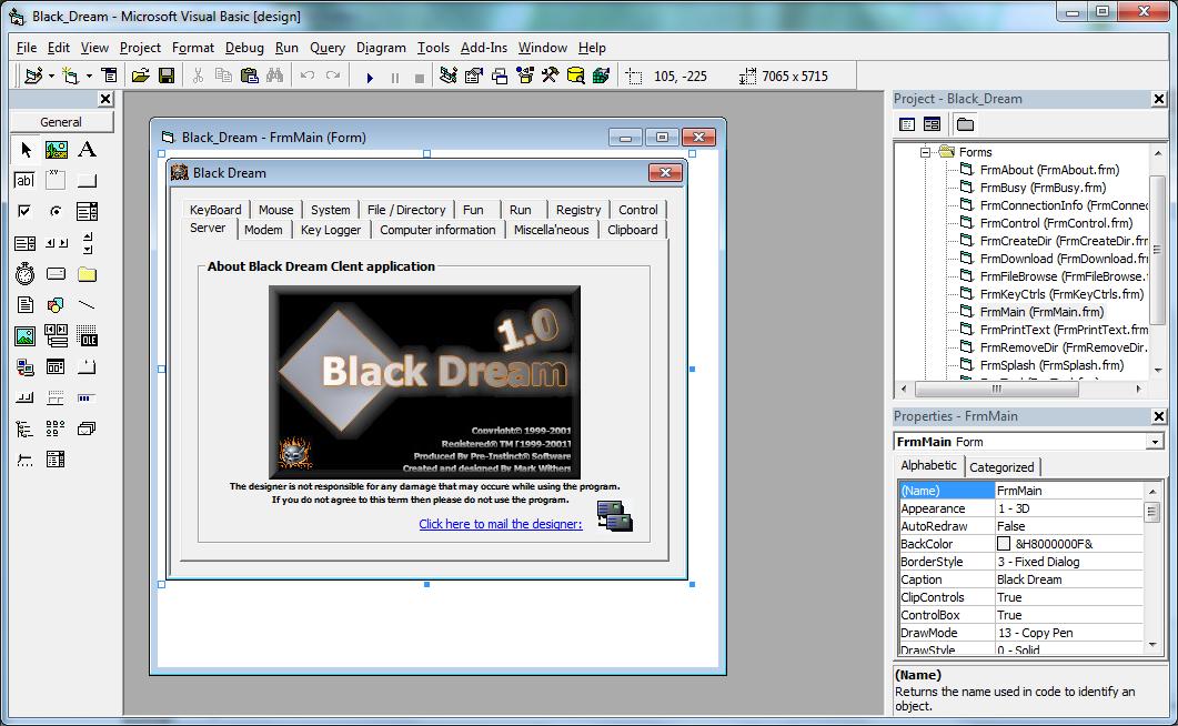 BlackDream Trojan VB6 Source code - Code Hacker