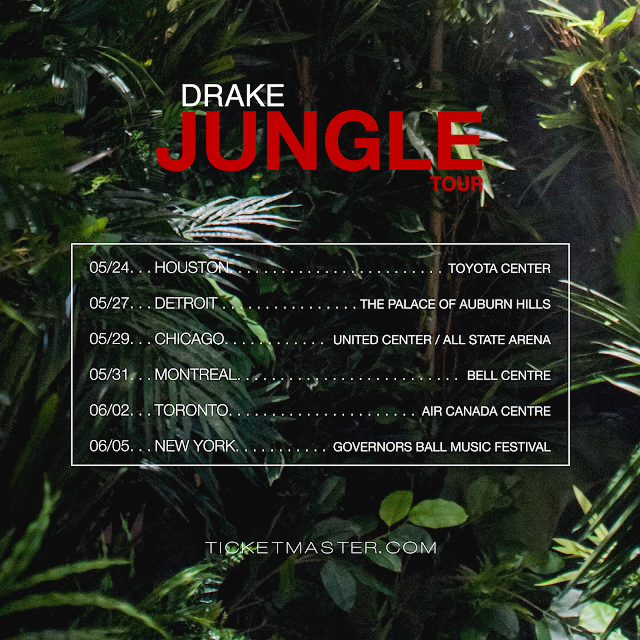 drake announces jungle tour featuring future