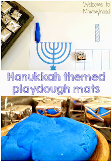 Hanukkah Activities: Free Playdough Mat Printable {Welcome to Mommyhood} #montessori #preschoolactivities, #hanukkah