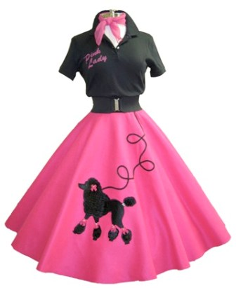 Pink Lady Shirt with Pink Fancy Poodle Skirt2 QM Scrap Squad: I Carried A Watermelon by Beth Helfter