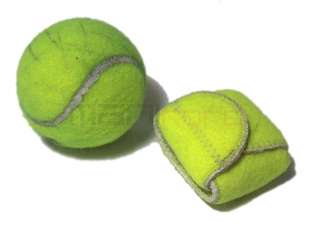 Bolinhas de tênis recicladas transformadas em capinhas, estojos e carteiras