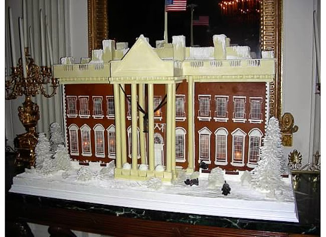 White House, gingerbread house, Christmas