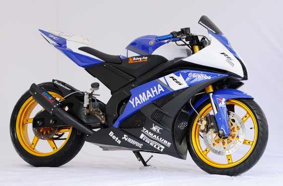 Modifikasi New Yamaha Vixion Biru Full Fairing