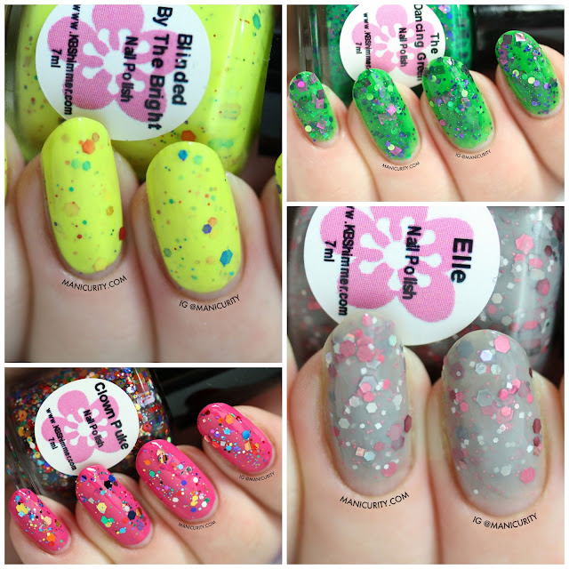 Manicurit |KBShimmer Swatches + Review: Blinded by the Bright, Clown Puke, Elle, & The Dancing Green