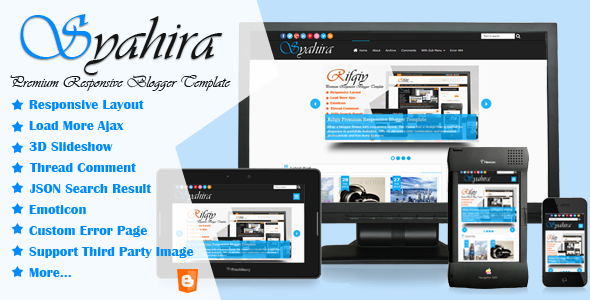 Syahira Premium Responsive Blogger Template