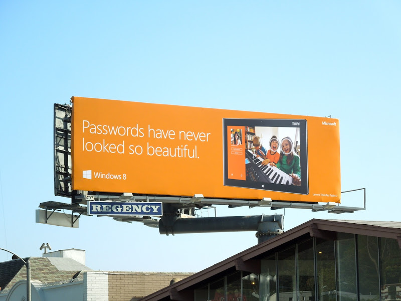 Windows 8 Passwords beautiful billboard