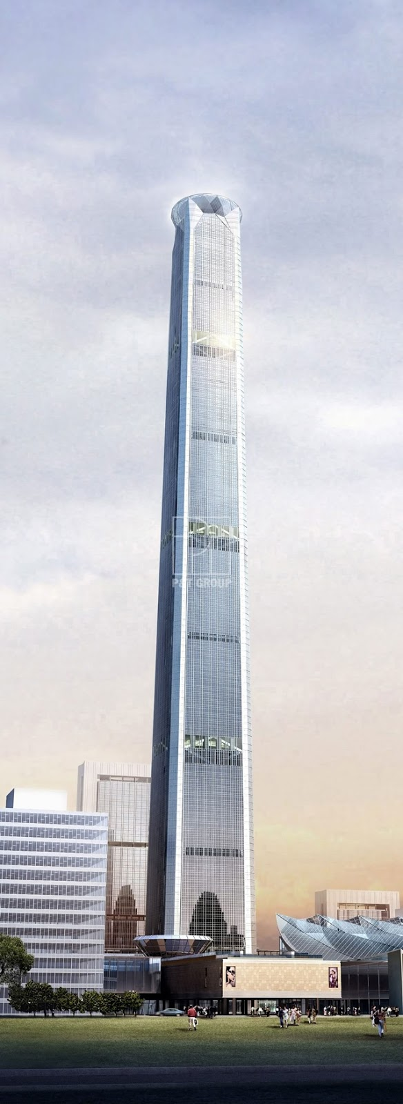 Rendering of the Goldin Finance 117 Tower