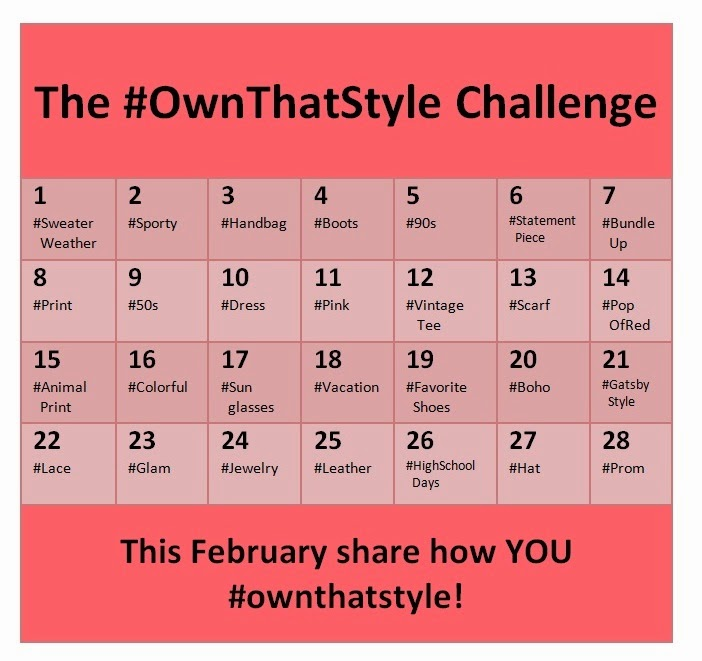 #OwnThatStyle Challenge Calendar