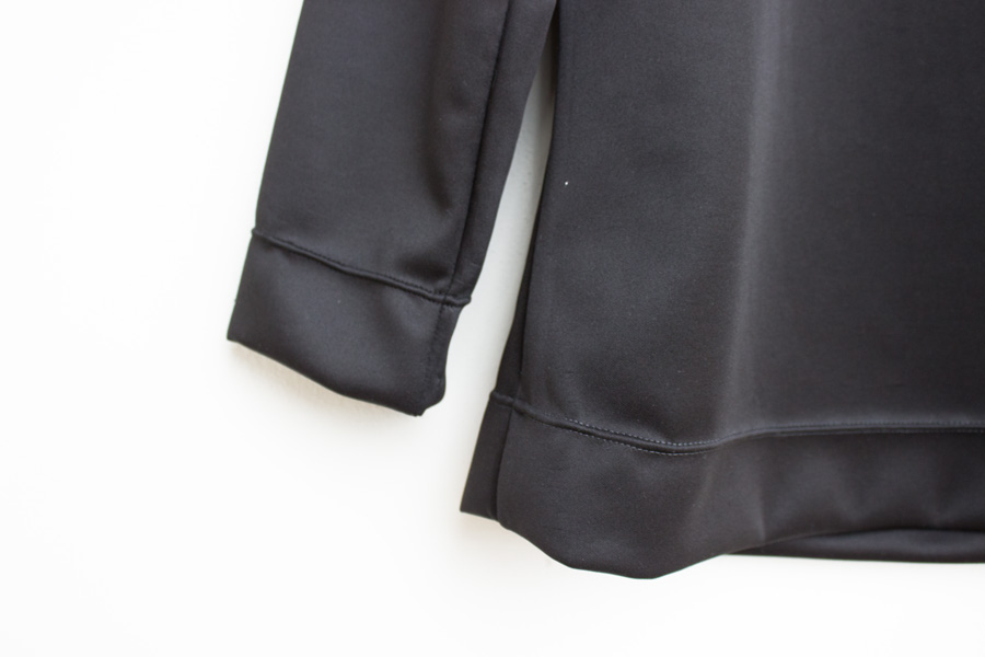a Tilly Buttons coco in sporty black neoprene