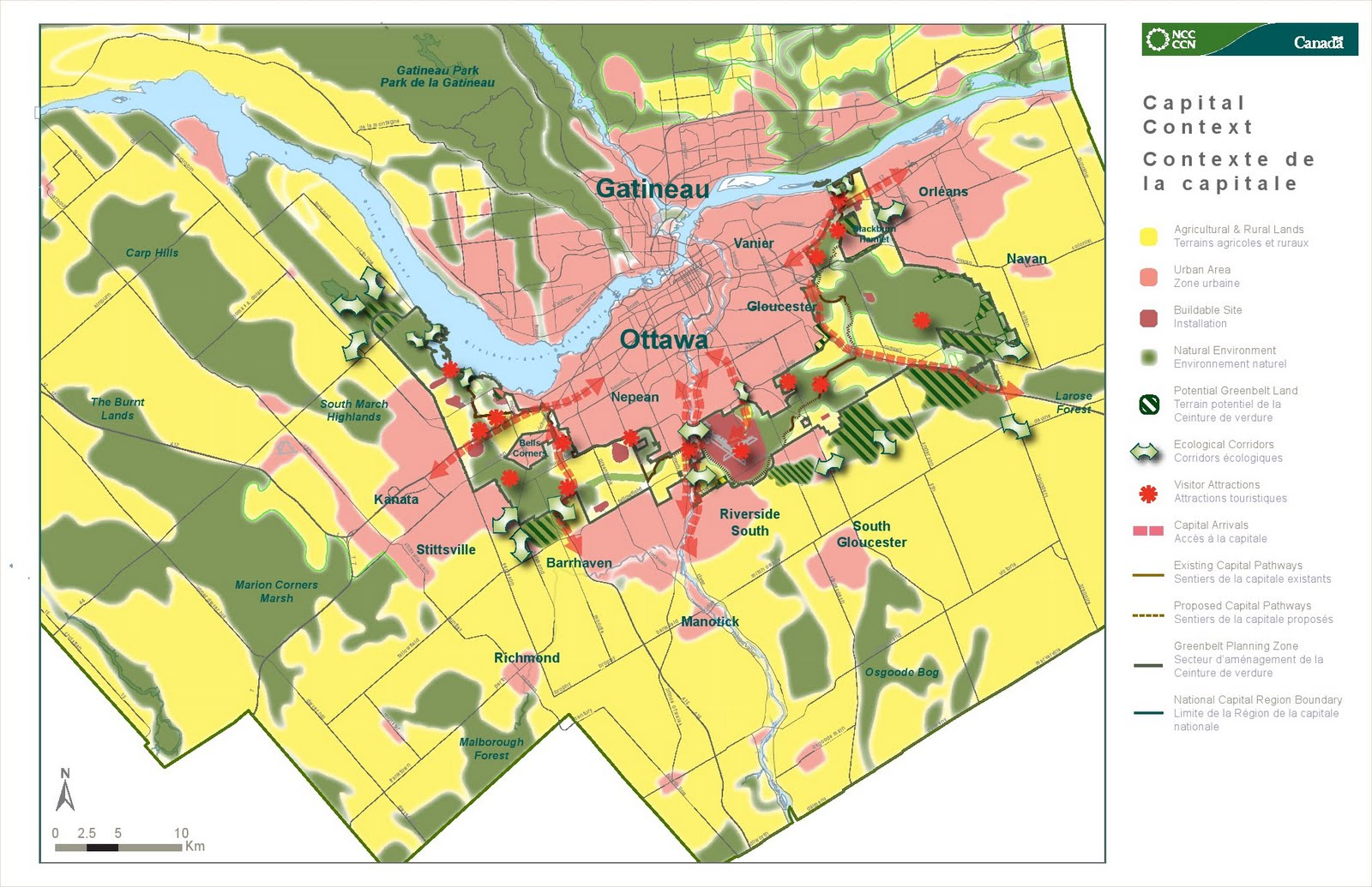south march highlands and carp hills ncc role in protecting natural environment lands beyond the greenbelt