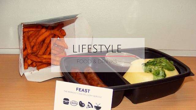 Sausages mash and sweet potato fries
