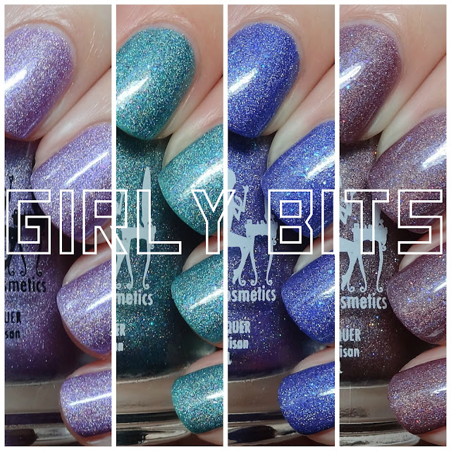 Girly Bits What Happens In Vegas...Ends Up On Facebook, Get Weaponized, Bird Is The Word & Man Size Love Swatches