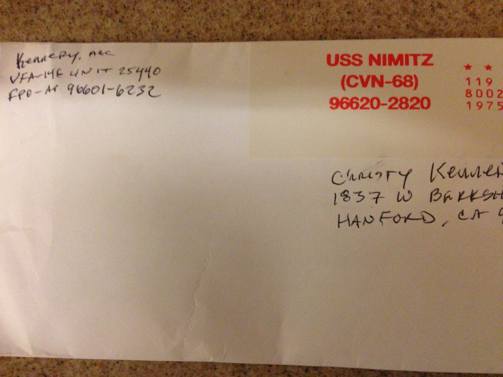 Mom, Teacher, Navy Wife: A letter from the USS Nimitz