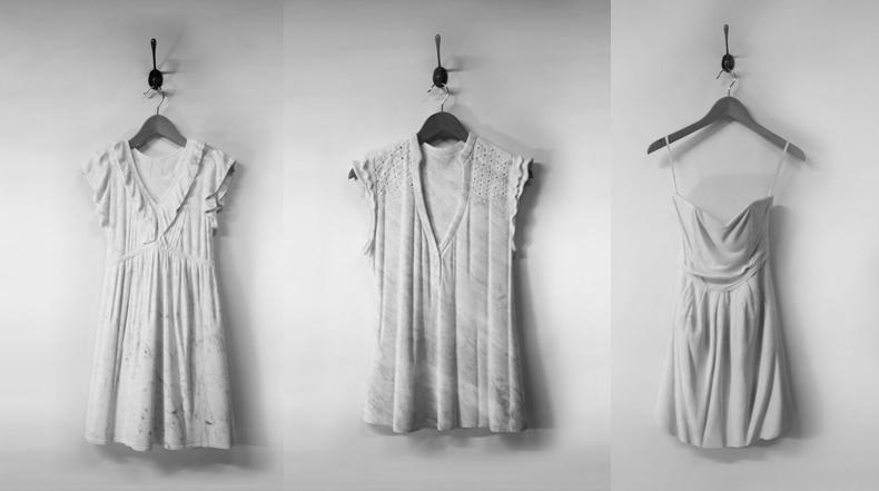 Vestidos tallados en mármol por Alasdair Thomson