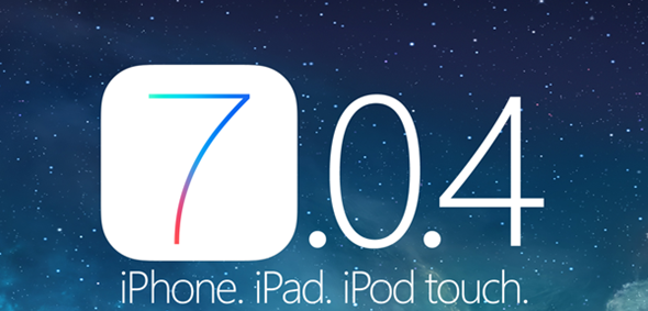 iOS 7.0.4 for iPhone, iPad and iPoad